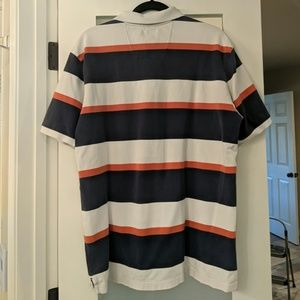 Nautica Shirts - Nautica Polo Shirt- Navy/White/Orange (Men's XL)